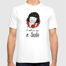 shiiii- you will smile :) White Mens Fitted Tee SMALL