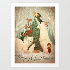 Christmas Card 2014 Art Print