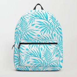 Waikiki Palm - White / Aqua Backpack