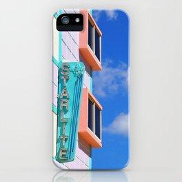 Miami Art Deco Starlite Hotel iPhone Case