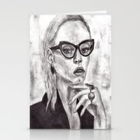 daria Stationery Cards featuring Daria by Yuval Ozery