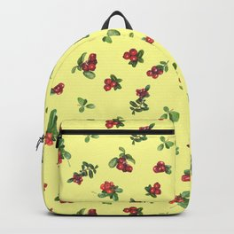 Cranberries yellow background Backpack