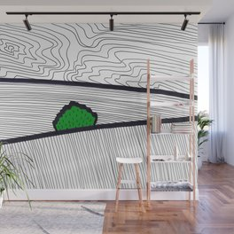 Landscape with Green Horse Chestnut Tree Wall Mural