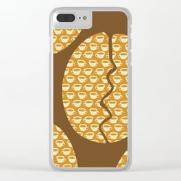 Coffe Bean and Cup Clear iPhone Case