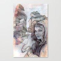 la dispute Canvas Prints featuring dispute by Andreas Derebucha