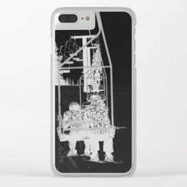 Inverted Ski Lift Clear iPhone Case