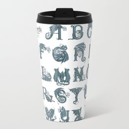 Dracoserific, a font full of Dragons (light) Travel Mug