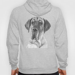 Black and White Great Dane Hoody