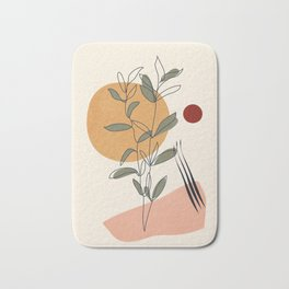 Minimal Line Young Leaves Bath Mat