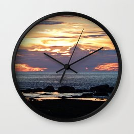 Firestorm Ends the Day Wall Clock
