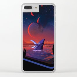 Space Whale Clear iPhone Case
