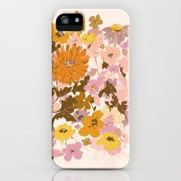 vintage wildflowers iPhone Case