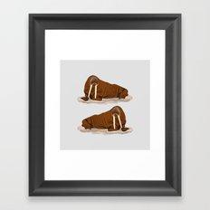 Pacific Walrus Framed Art Print