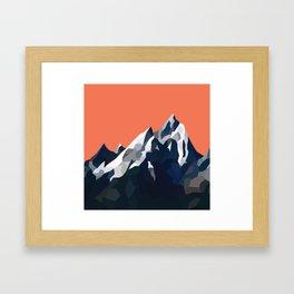Geo Mountain Range (Part 1) Framed Art Print