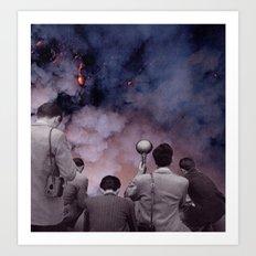 exposed film on fire Art Print