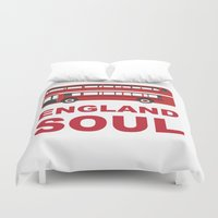 england Duvet Covers featuring England Soul by Tony Vazquez