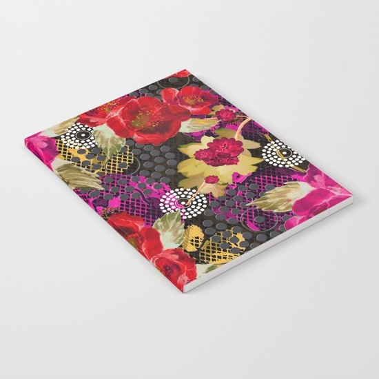 Flowers with Lace and Dots 2 Notebook