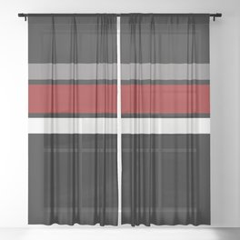 TEAM COLORS 2....black,maroon and gray Sheer Curtain