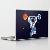 gym Laptop & iPad Skins featuring Space Gym  by Tobe Fonseca