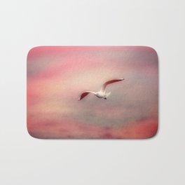 Seagull flying Bath Mat