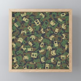 Gamer Camo WOODLAND Framed Mini Art Print