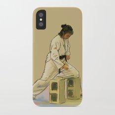 Preparing to Break a Brick Slim Case iPhone X