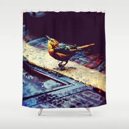 Club Foot Joan The Gracklette Shower Curtain