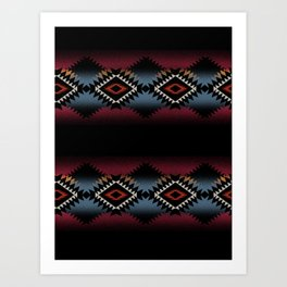 aztec in black number 5 Art Print