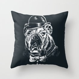 English Gentleman Throw Pillow
