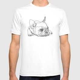French Bulldog Puppy One Line Drawing T-shirt