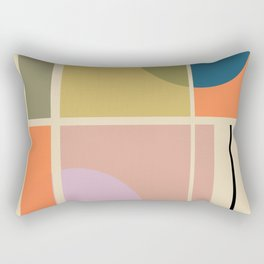 Modern geometric shapes Rectangular Pillow
