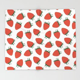 Strawberry Red Pattern Throw Blanket