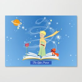 The Little Prince in the Fairy Tale Book Canvas Print