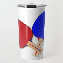 Two Table Tennis Bats Travel Mug