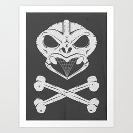 Skull and crossbones tiki Art Print