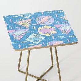 Nineties Dinosaurs Pattern  - Pastel version Side Table