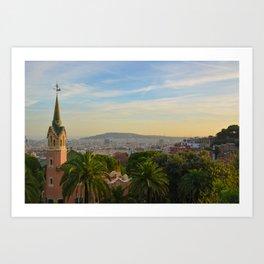 Park Guell Barcelona Spain Art Print