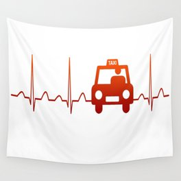 TAXI DRIVER HEARTBEAT Wall Tapestry