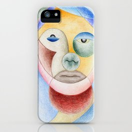 Face with circles iPhone Case