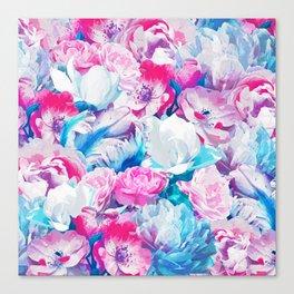 FLORAL GARDEN Peony & Magnolia Canvas Print