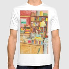 Book store White MEDIUM Mens Fitted Tee