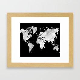 Design 70 world map Framed Art Print