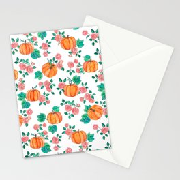 Pumpkins and Roses Stationery Cards