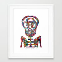 calavera Framed Art Prints featuring Calavera by Diego Manuel by Diego Manuel