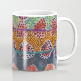 Red Round And Dotted Forms  Coffee Mug