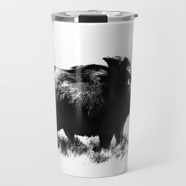 Wild Boar in Ink Travel Mug