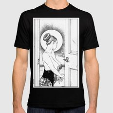 Apollonia Saintclair 647 - 20160616 L'annonciation (The blessed woman) Mens Fitted Tee MEDIUM Black