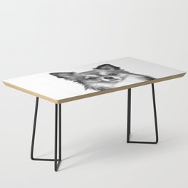 Black and White Chihuahua Coffee Table