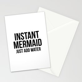 Instant Mermaid Just Add Water Stationery Cards