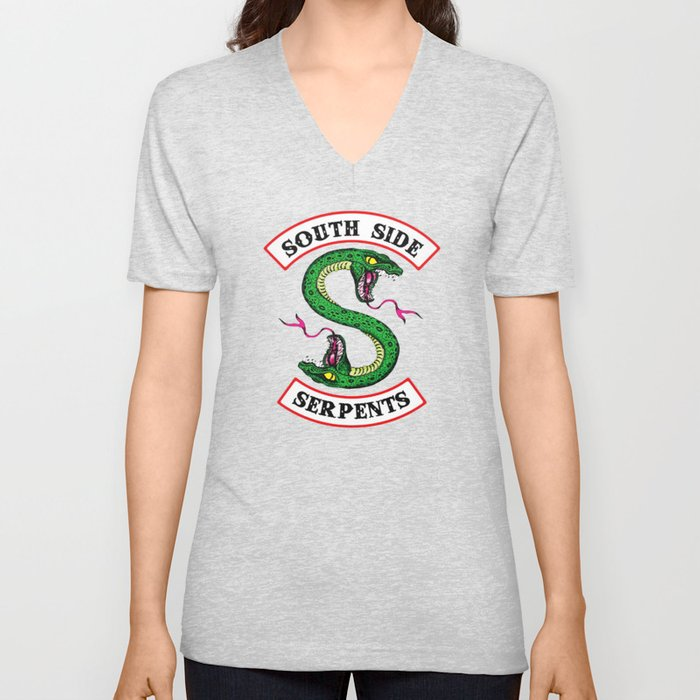 737b8a1c7 Southside Serpents-Riverdale Unisex V-Neck by sarasophie | Society6